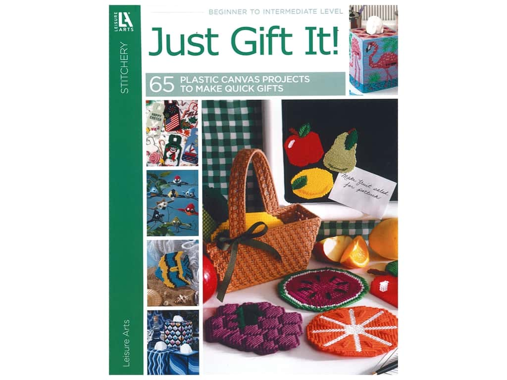Leisure Arts Plastic Canvas Just Gift It! Book