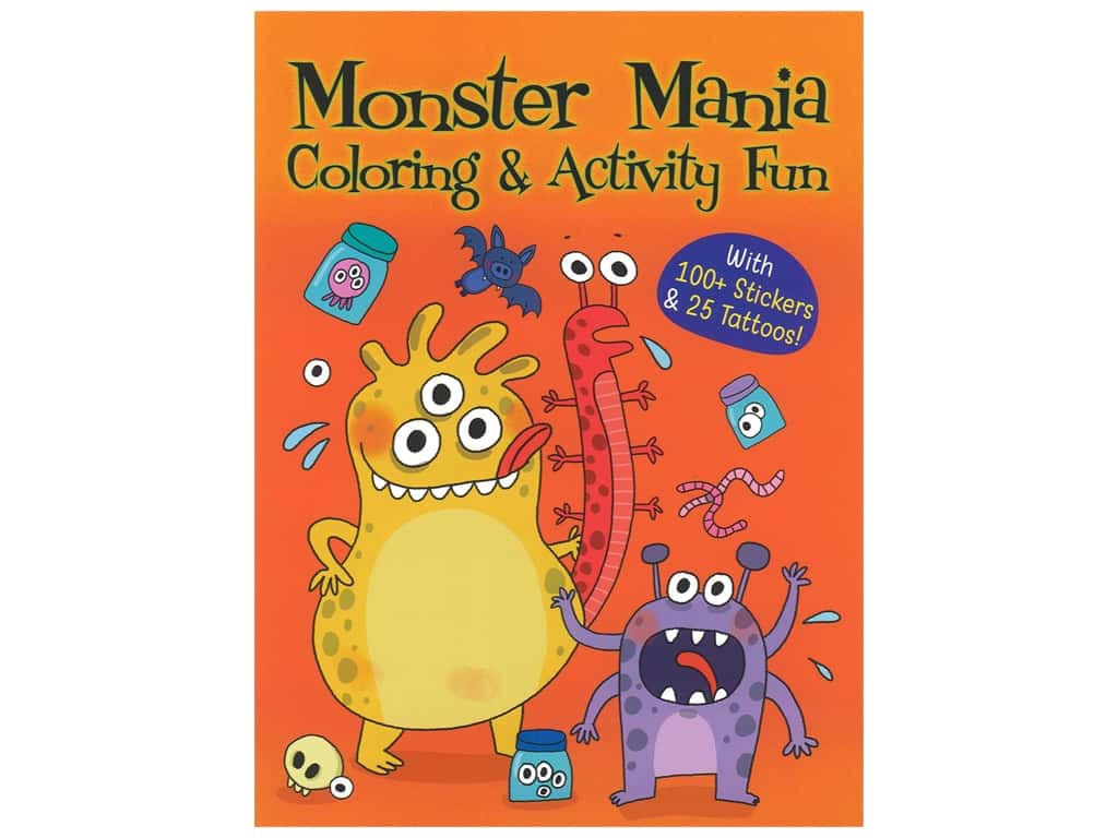 Dover Publications Monster Mania Coloring & Activity Book