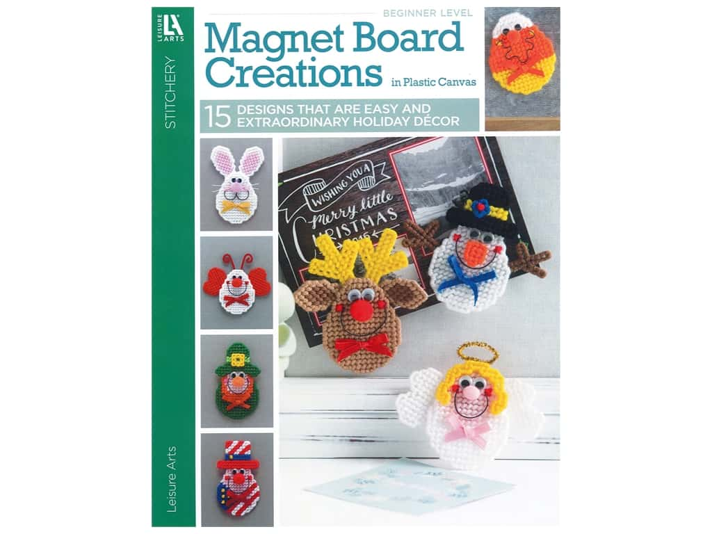 Magnet Board Creations in Plastic Canvas Book