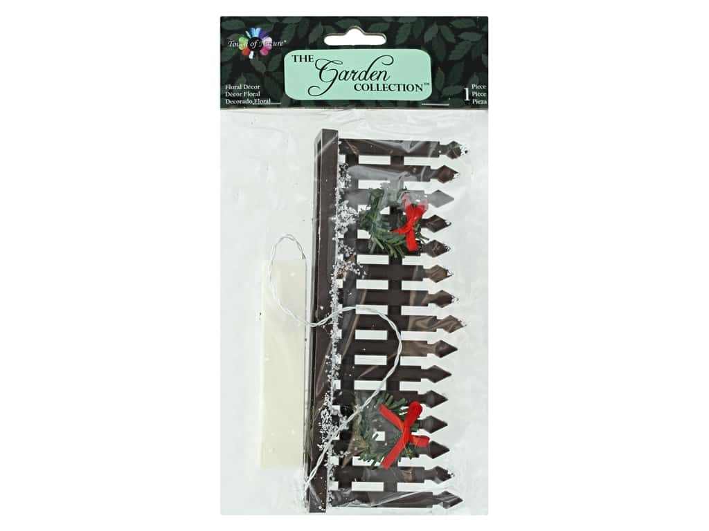 Midwest Design Garden Touch Of Nature 2.5 in. Christmas Fence Brown 1 pc