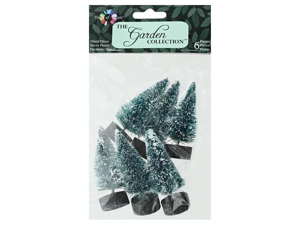 Midwest Design Garden Touch Of Nature 2.25 in. Tree Blue Spruce 6 pc