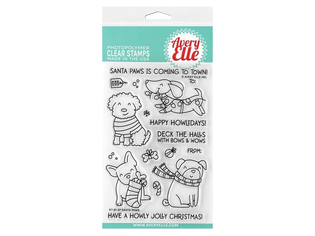 Avery Elle Clear Stamp Santa Paws