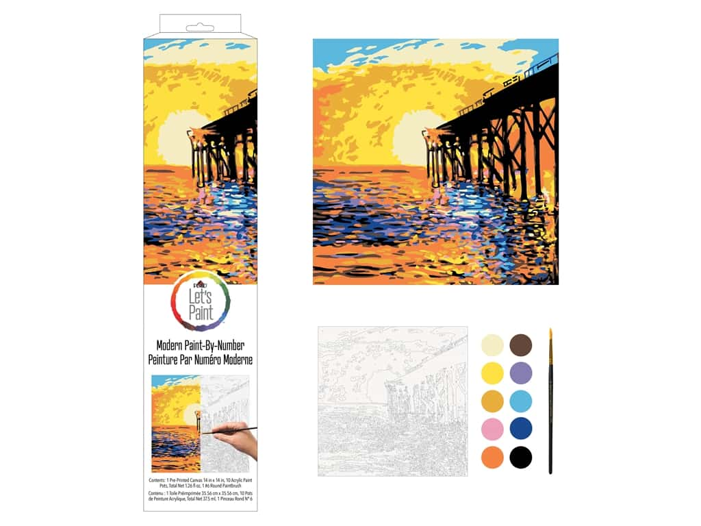 Plaid Paint By Number 14 in. x 14 in. West Coast Pier