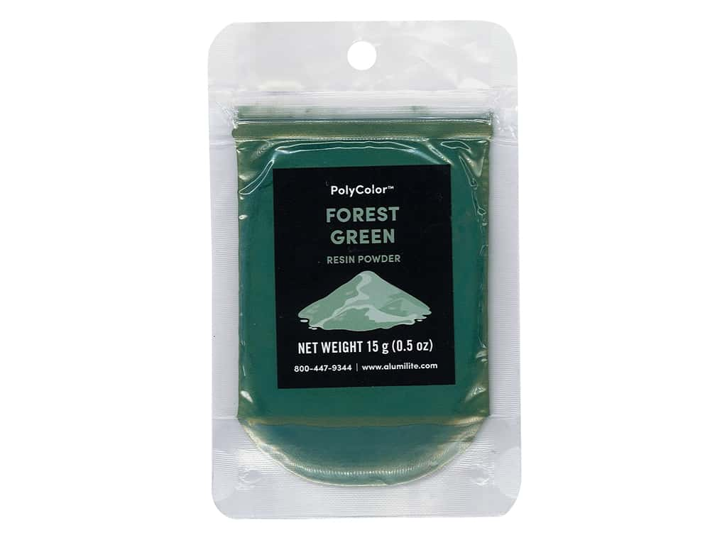 Alumilite PolyColor Resin Powder - Forest Green .5 oz.