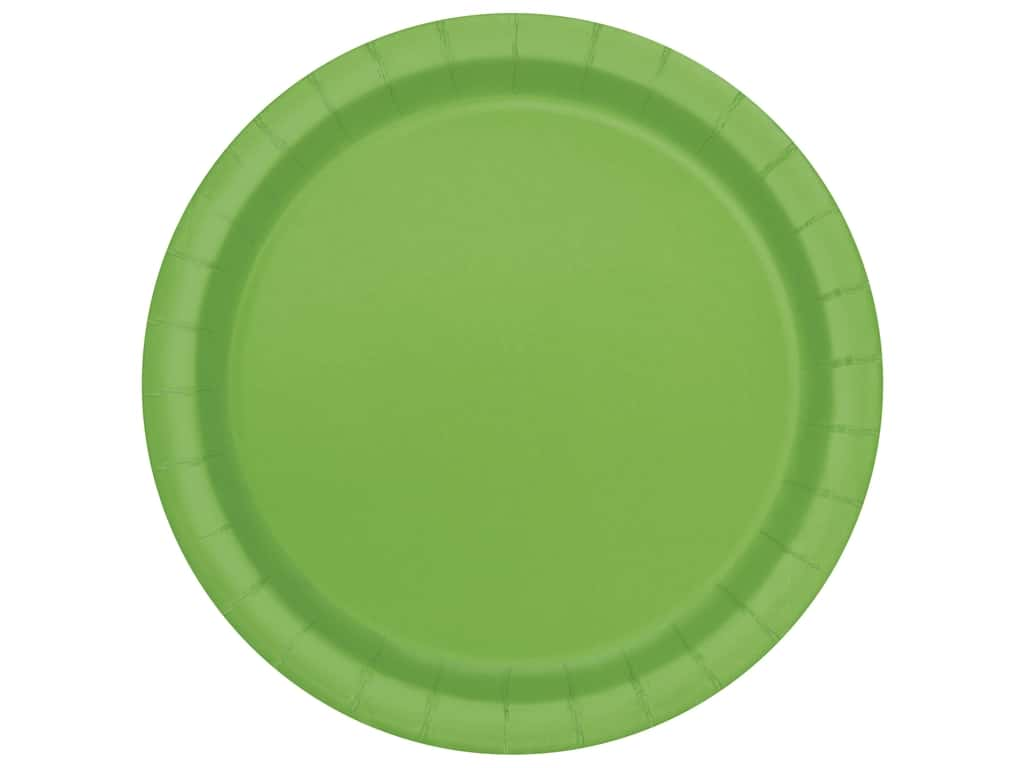 Unique 7 in. Plates - Lime Green 20 pc.