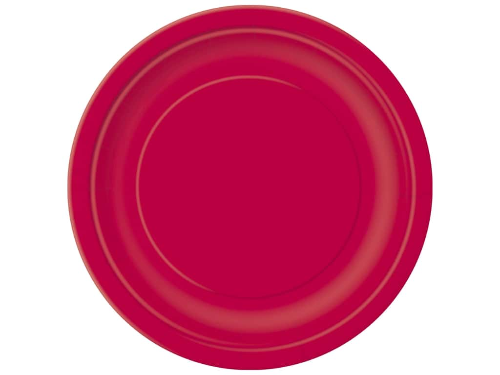 Unique 9 in. Plates - Ruby Red 16 pc.