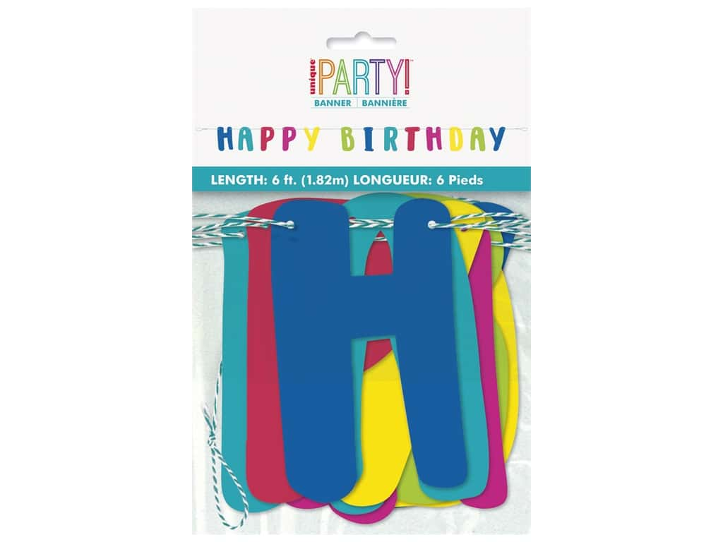 Unique Collection Llama Birthday Letter Banner 6ft