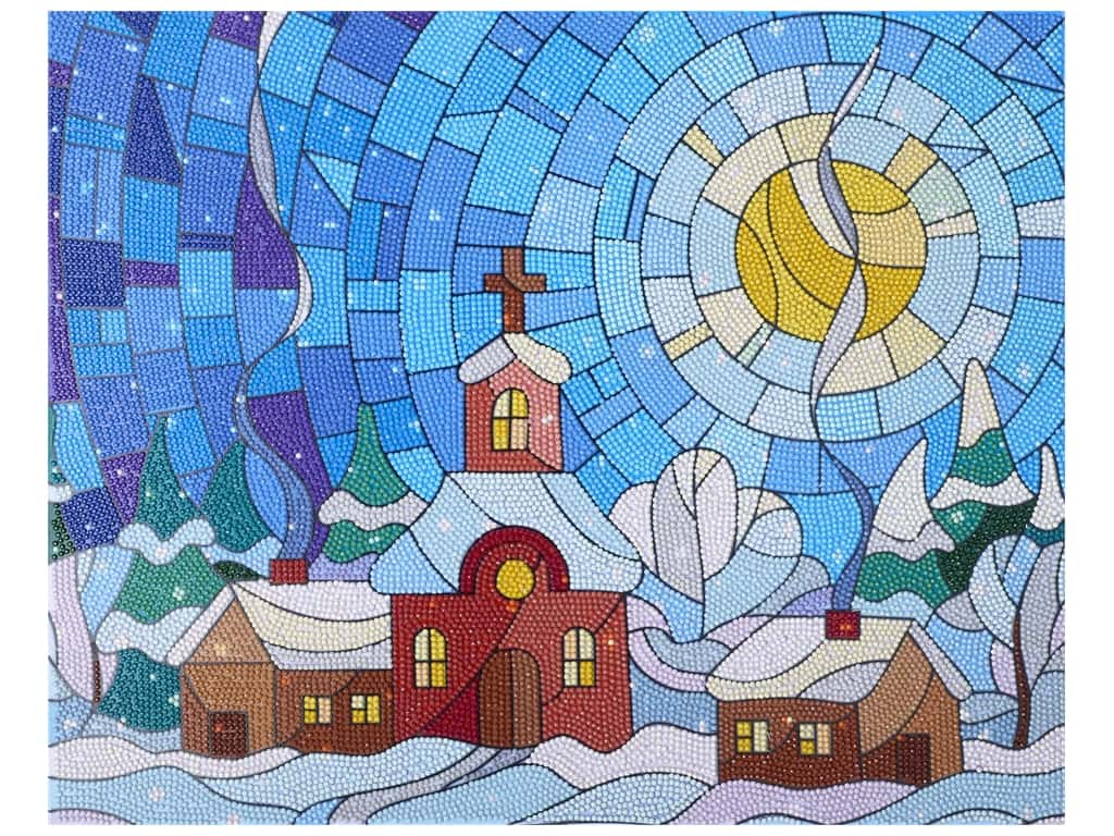 Diamond Art Kit 16 in. x 20 in. Advanced Stained Glass Village