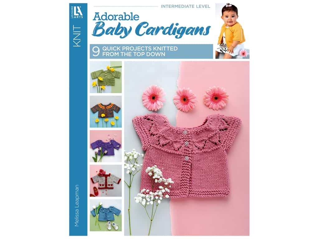 Leisure Arts Knit Adorable Baby Cardigans Book