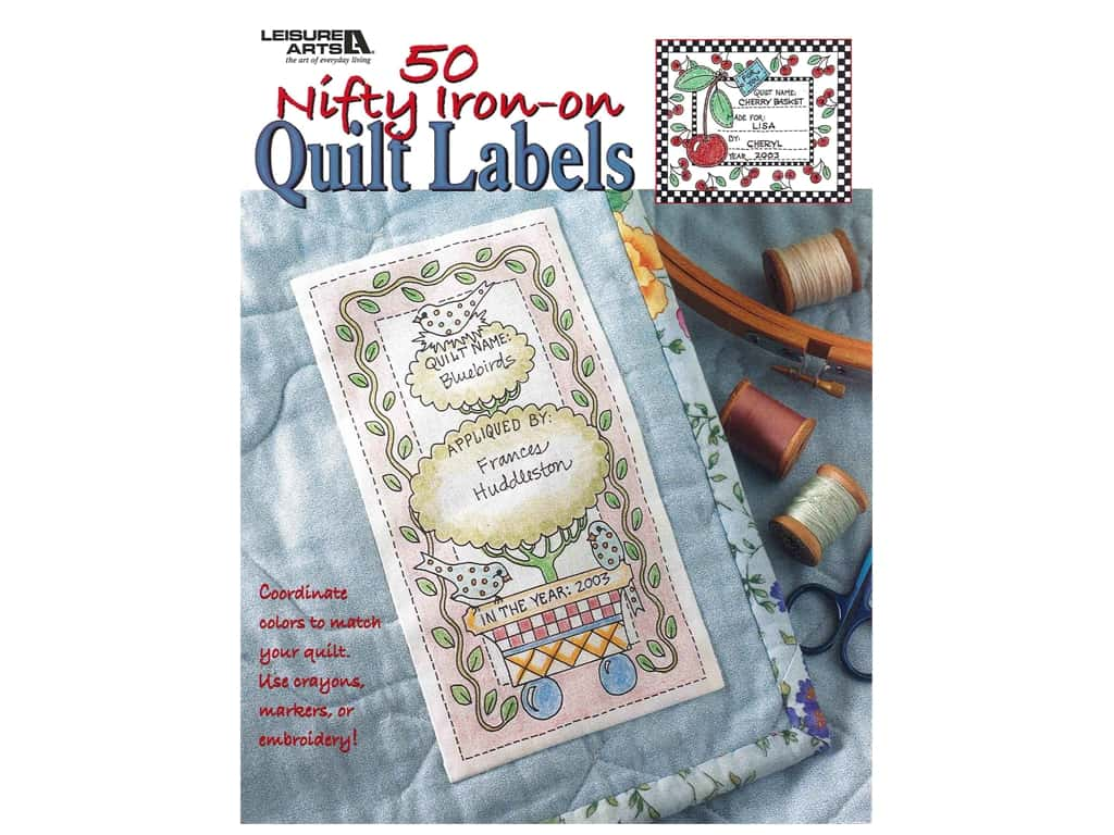 50 Nifty Iron-On Quilt Labels Book