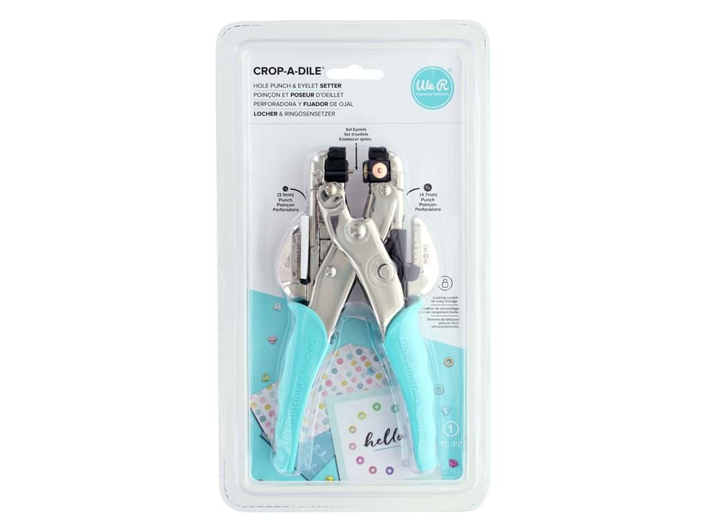 We R Memory Keepers Crop-A-Dile Hole Punch & Eyelet Setter