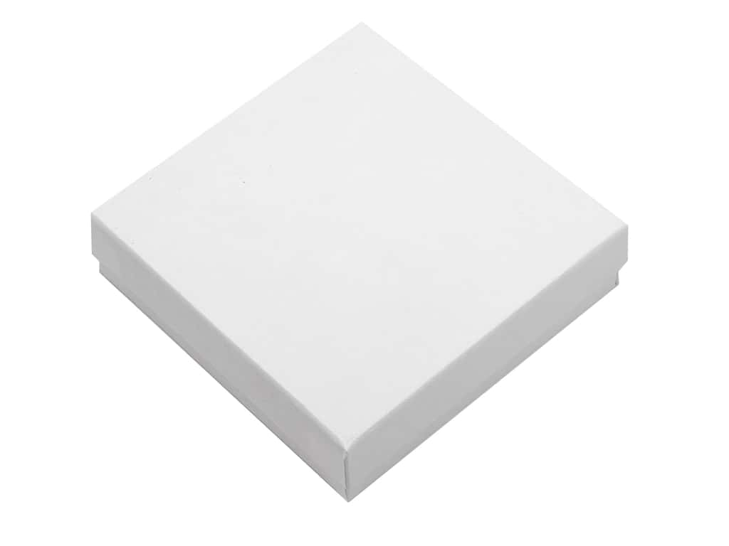 Essentials By Leisure Arts Basics Jewelry Box With Filling 3.5 in. x 3.5 in. White (6 pieces)