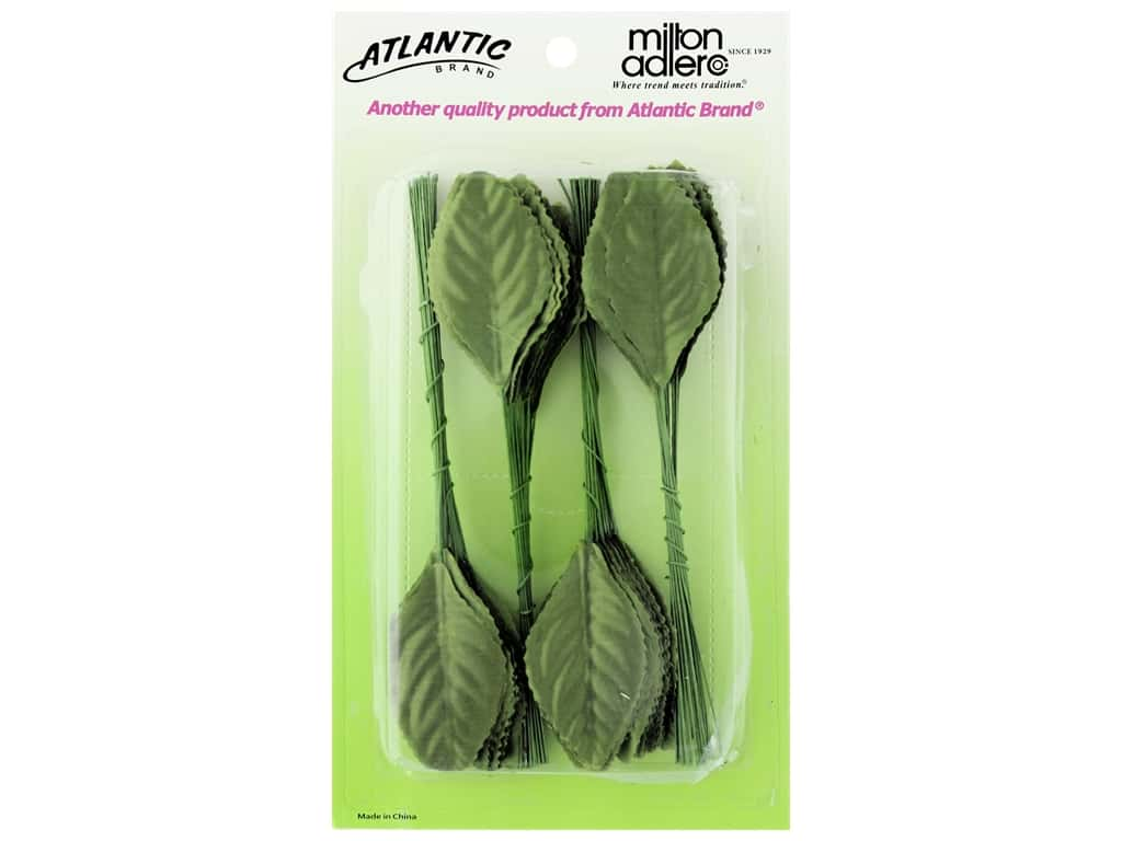 Atlantic Corsage Never Wilt Leaves 2.25 in. Moss Green 100 pc