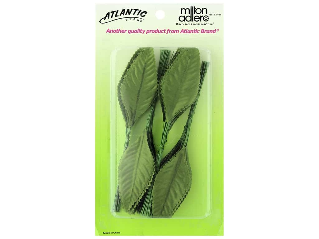 Atlantic Corsage Never Wilt Leaves 3 in. Moss Green 100 pc