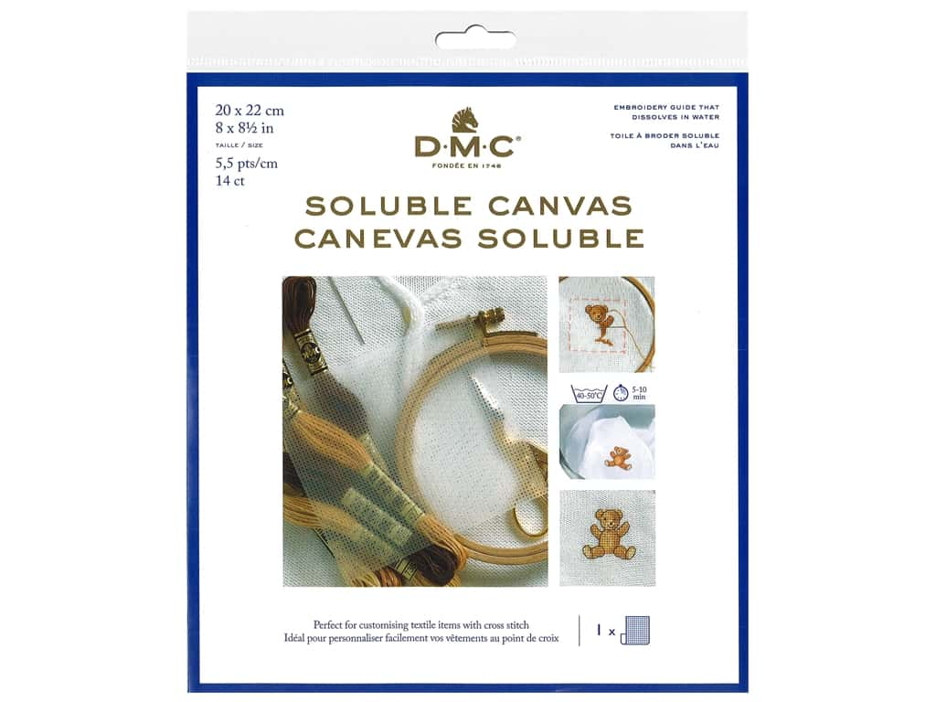 DMC 14-count Soluble Canvas 8 x 8 1/2 in.