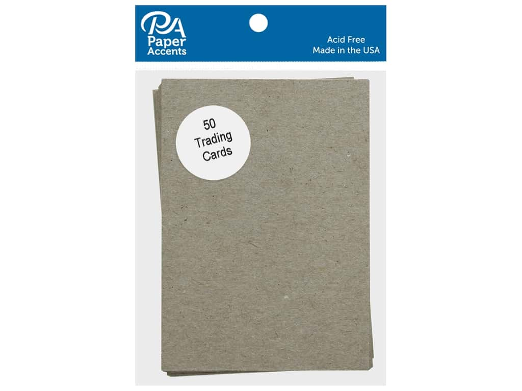 Paper Accent Trading Cards 2 1/2 x 3 1/2 in. Chipboard 25 pc.
