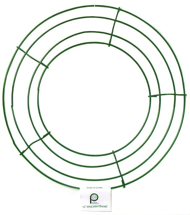 panacea box wire wreath frame 10 in green 10 pieces createforless - Wire Wreath Frame Wholesale