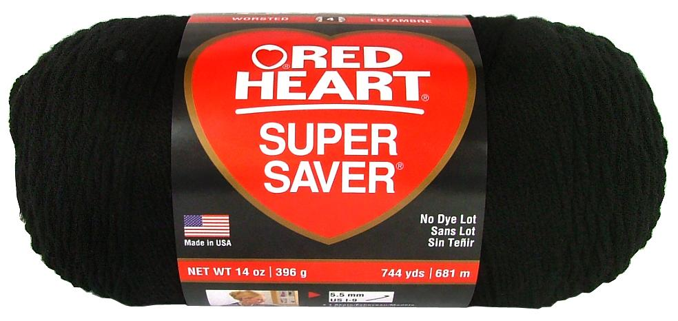 Red Heart Yarn Black