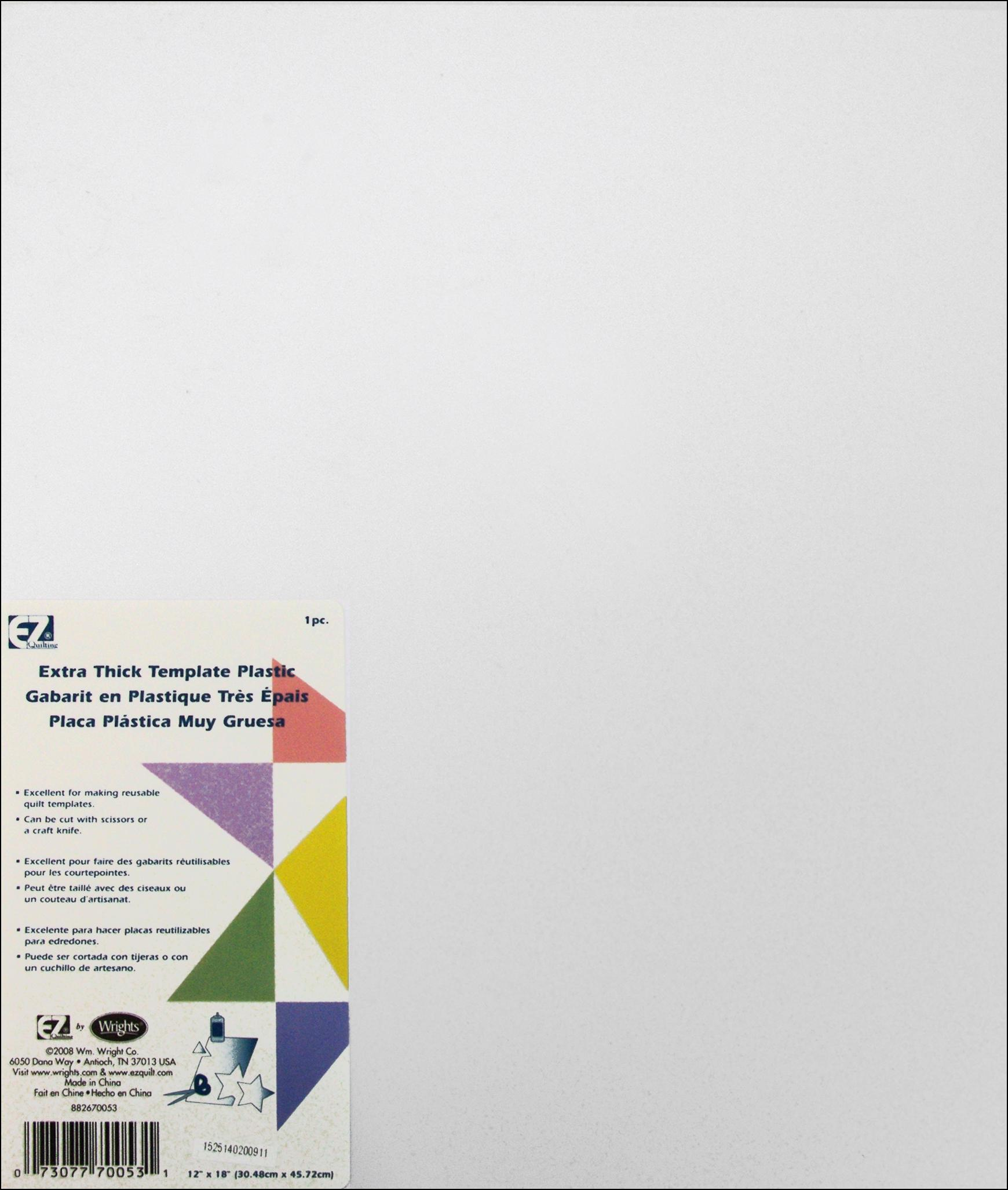 ez quilting template plastic 12 x 18 in extra thick createforless