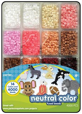 Perler Bead Tray 4000 pc  Neutral Colors