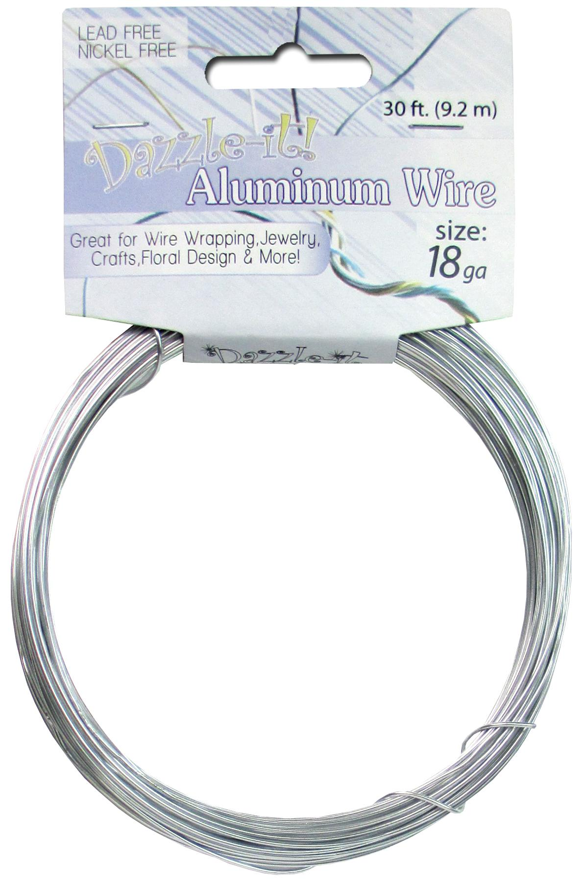 Dazzle It Aluminum Wire 18 ga. 30 ft. Round Silver -- CreateForLess