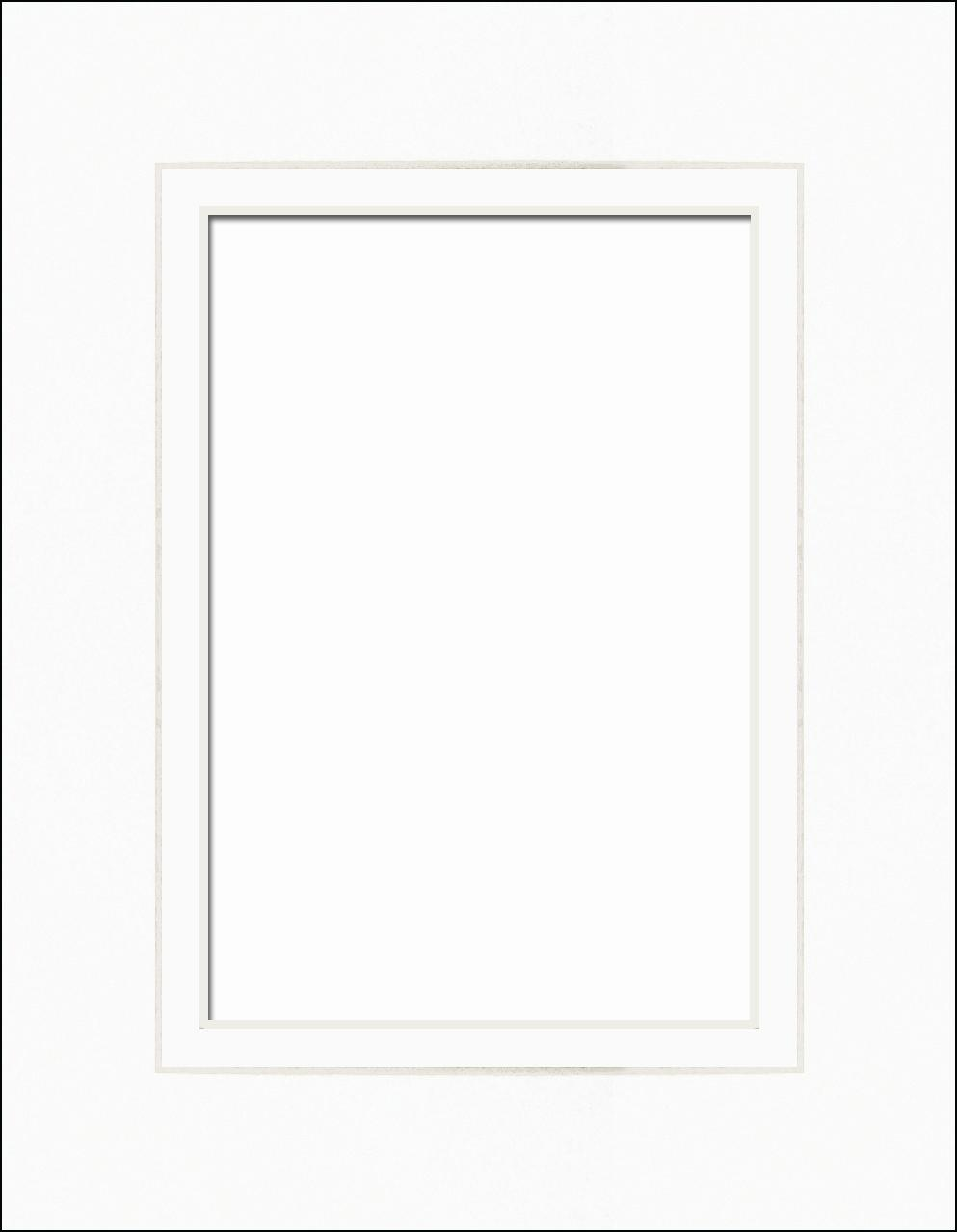 PA Framing Pre-cut Double Photo Mat Board 8 x 10 in. -- CreateForLess