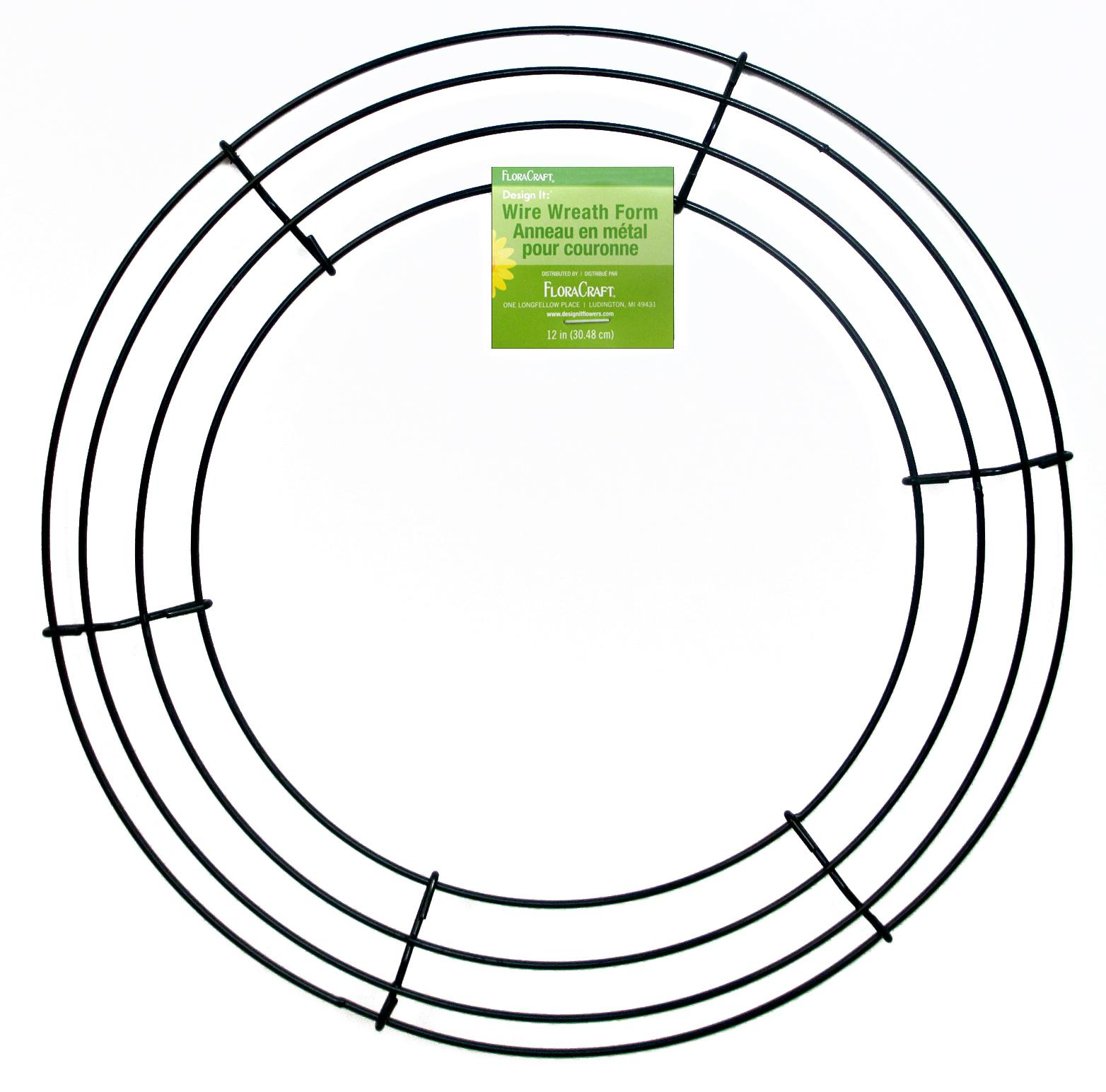 FloraCraft Wire Wreath Form 12 in. Green -- CreateForLess