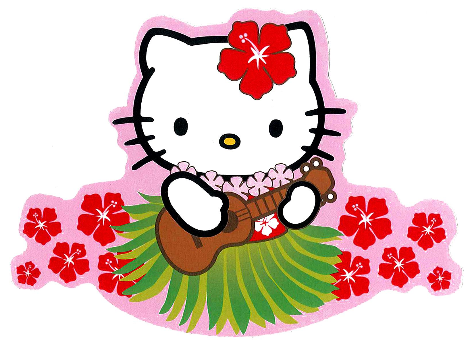 Welcome to TdcCrafts !: Crochet Hawaiian Hello Kitty keychain 2.5