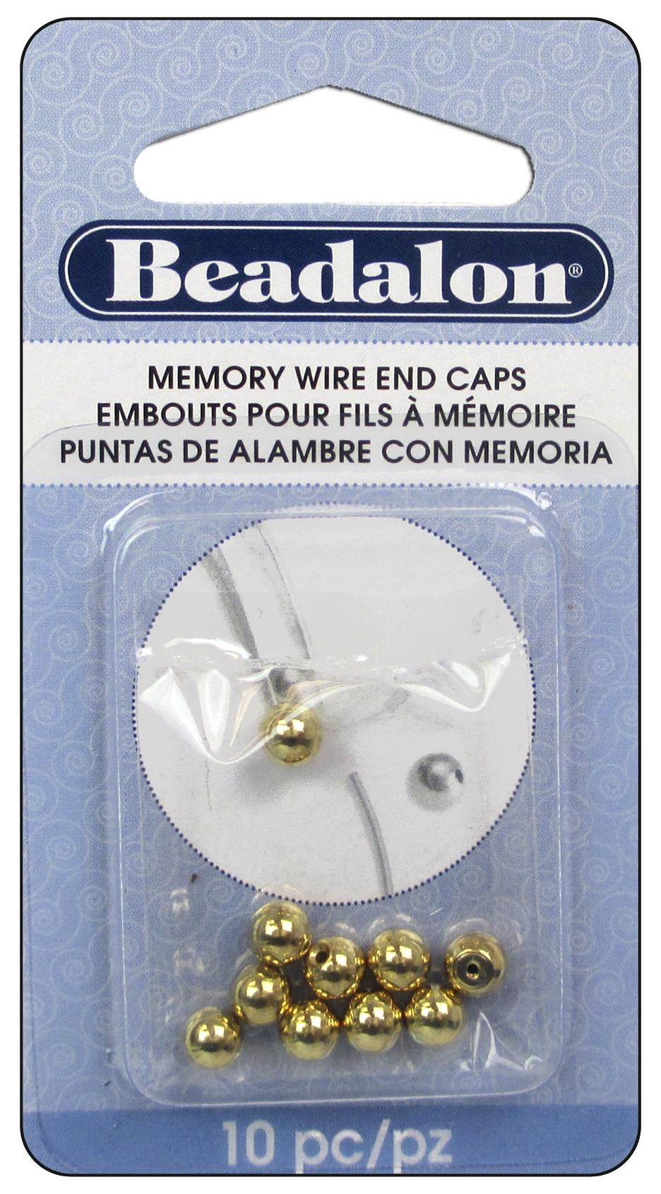 Beadalon Memory Wire End Caps 5 mm Round 10 pc. Gold -- CreateForLess