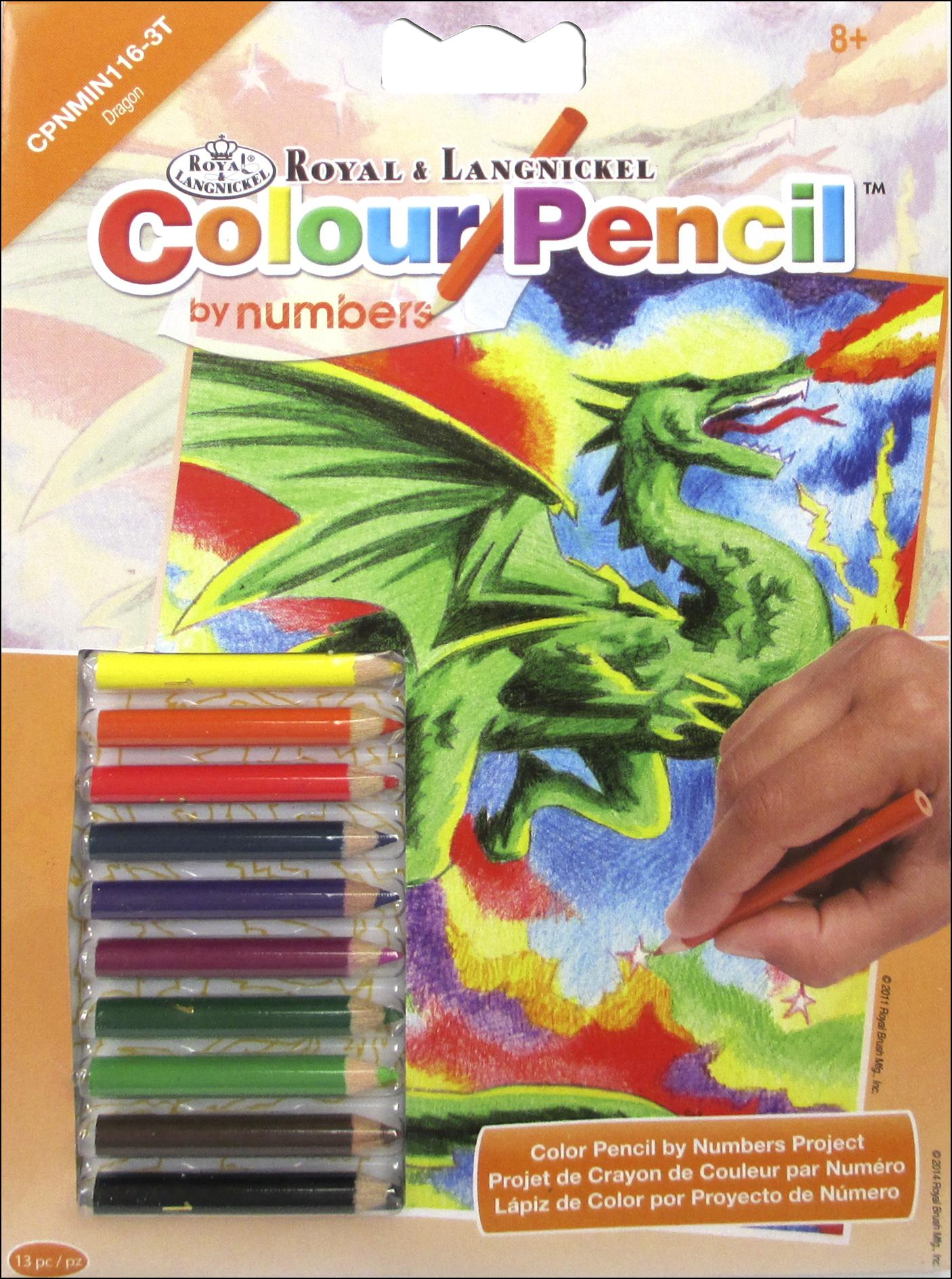 Royal Color Pencil by Number Mini Dragon -- CreateForLess