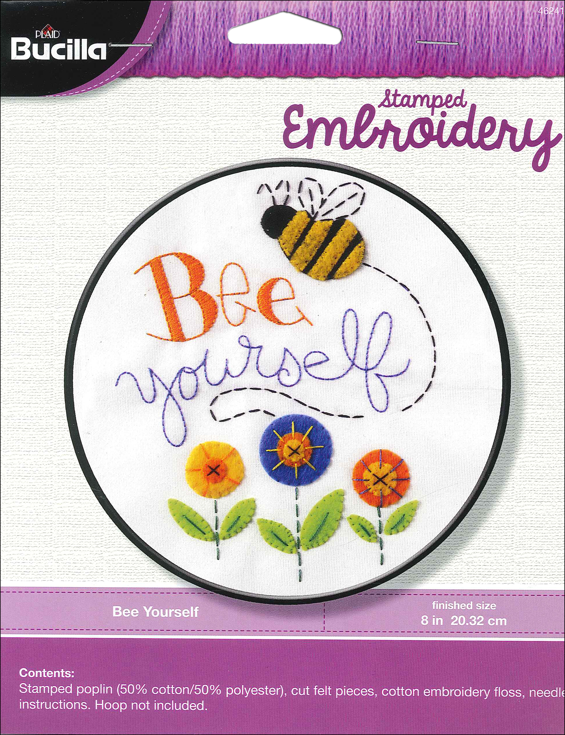 Bucilla Stamped Embroidery Kit Bee Yourself Createforless