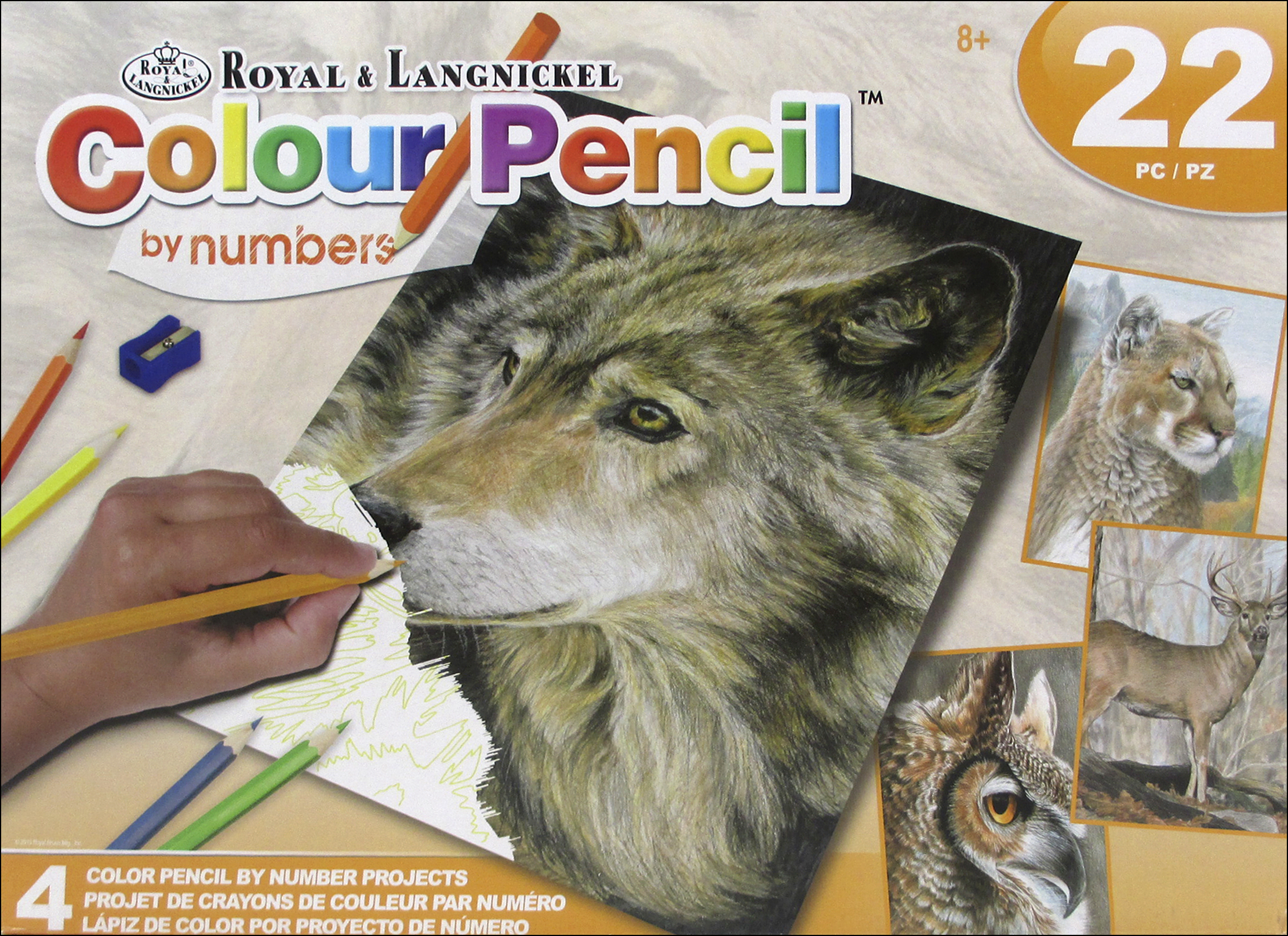 Royal Colour Pencil By Number Activity Set Wild Life Createforless