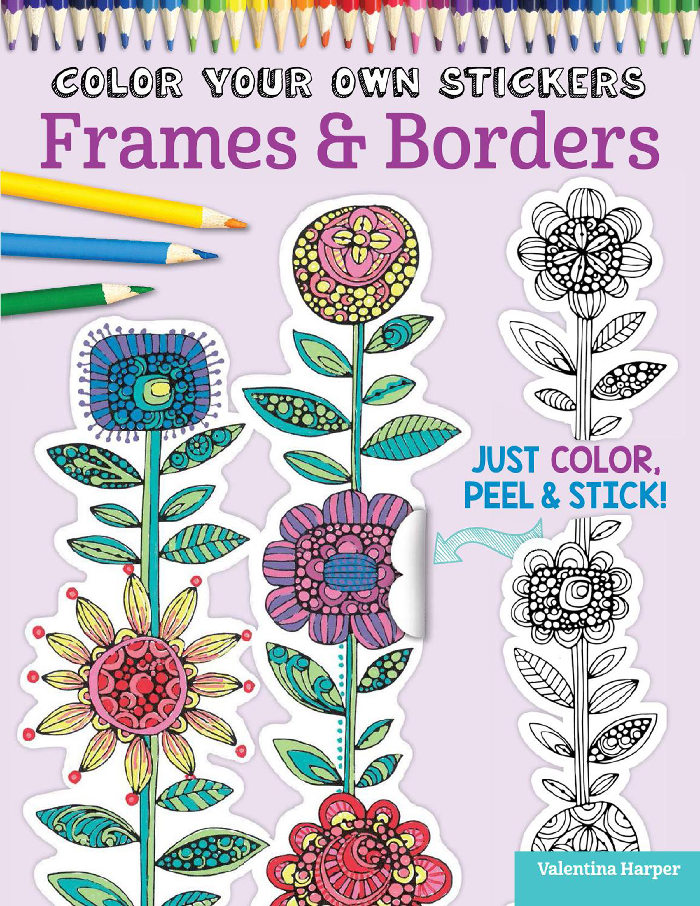 Color Your Own Stickers FrameBorder Coloring Book CreateForLess