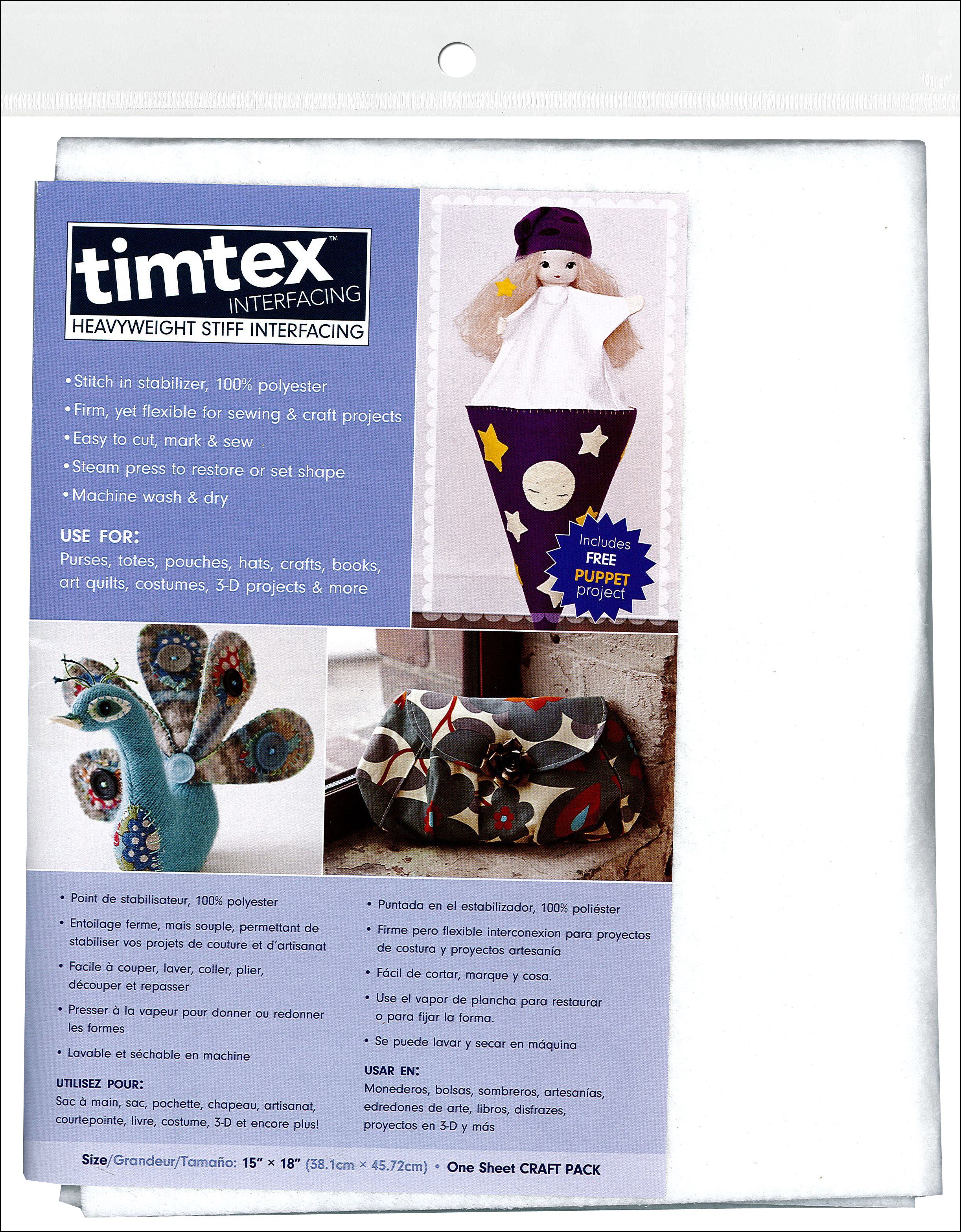 Timtex Craft Pack Interfacing-15x18