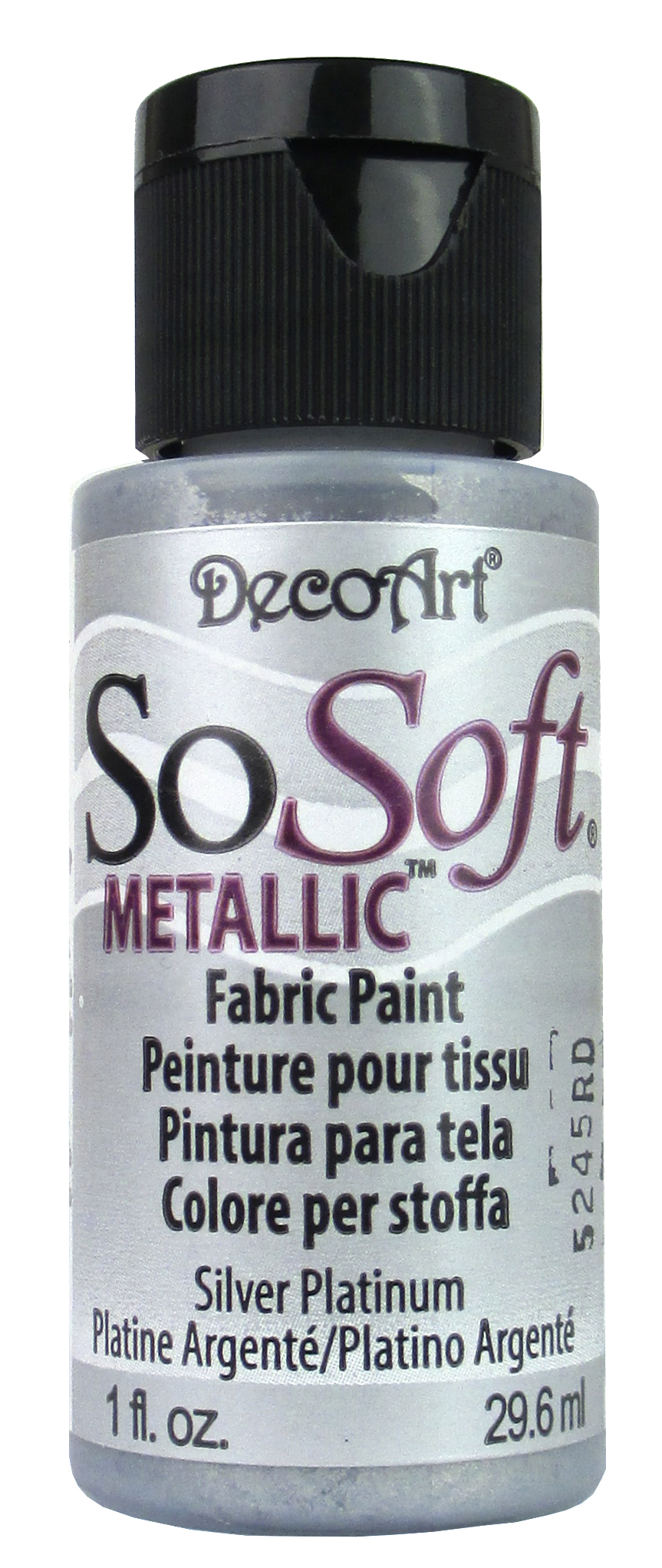 decoart sosoft fabric paint 1 oz met slvr pltnm createforless