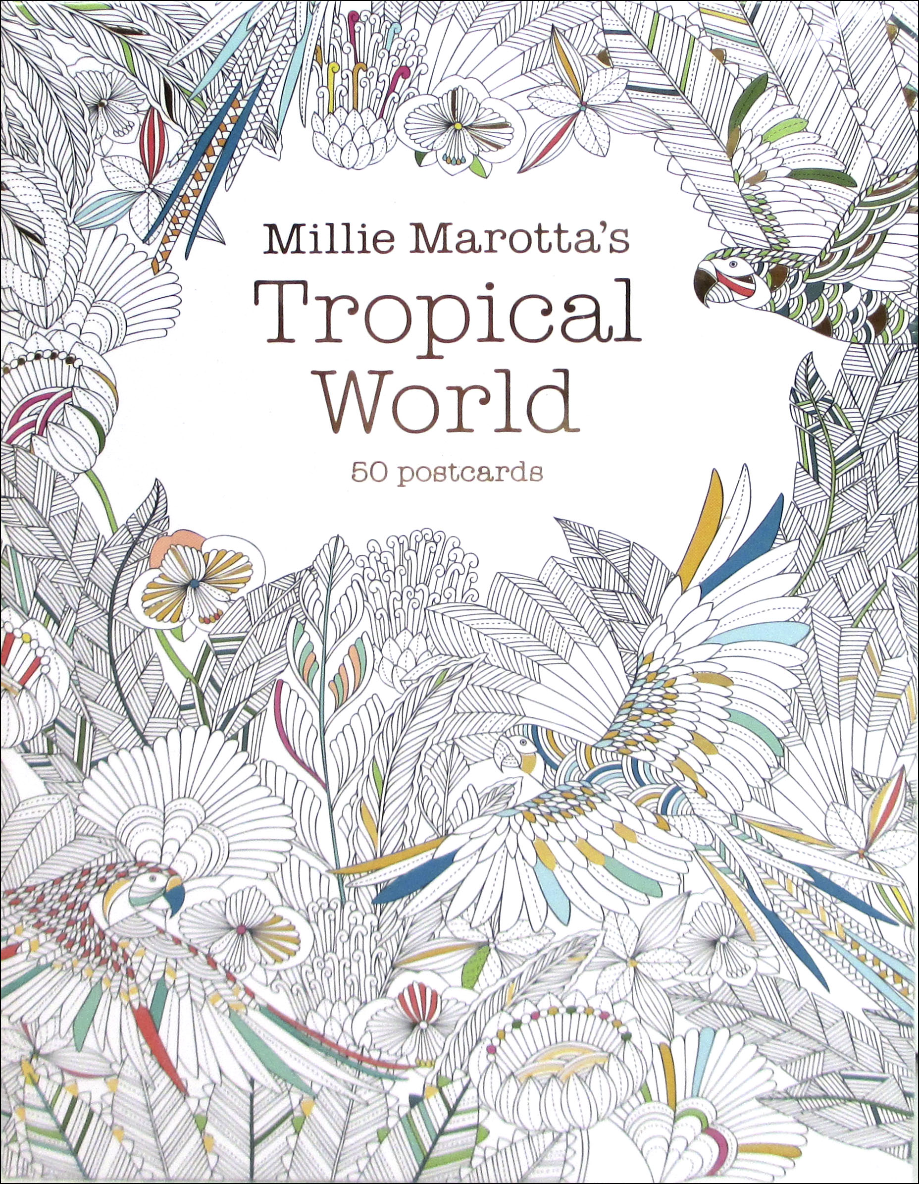 Millie Marottas Tropical World Coloring Postcards CreateForLess