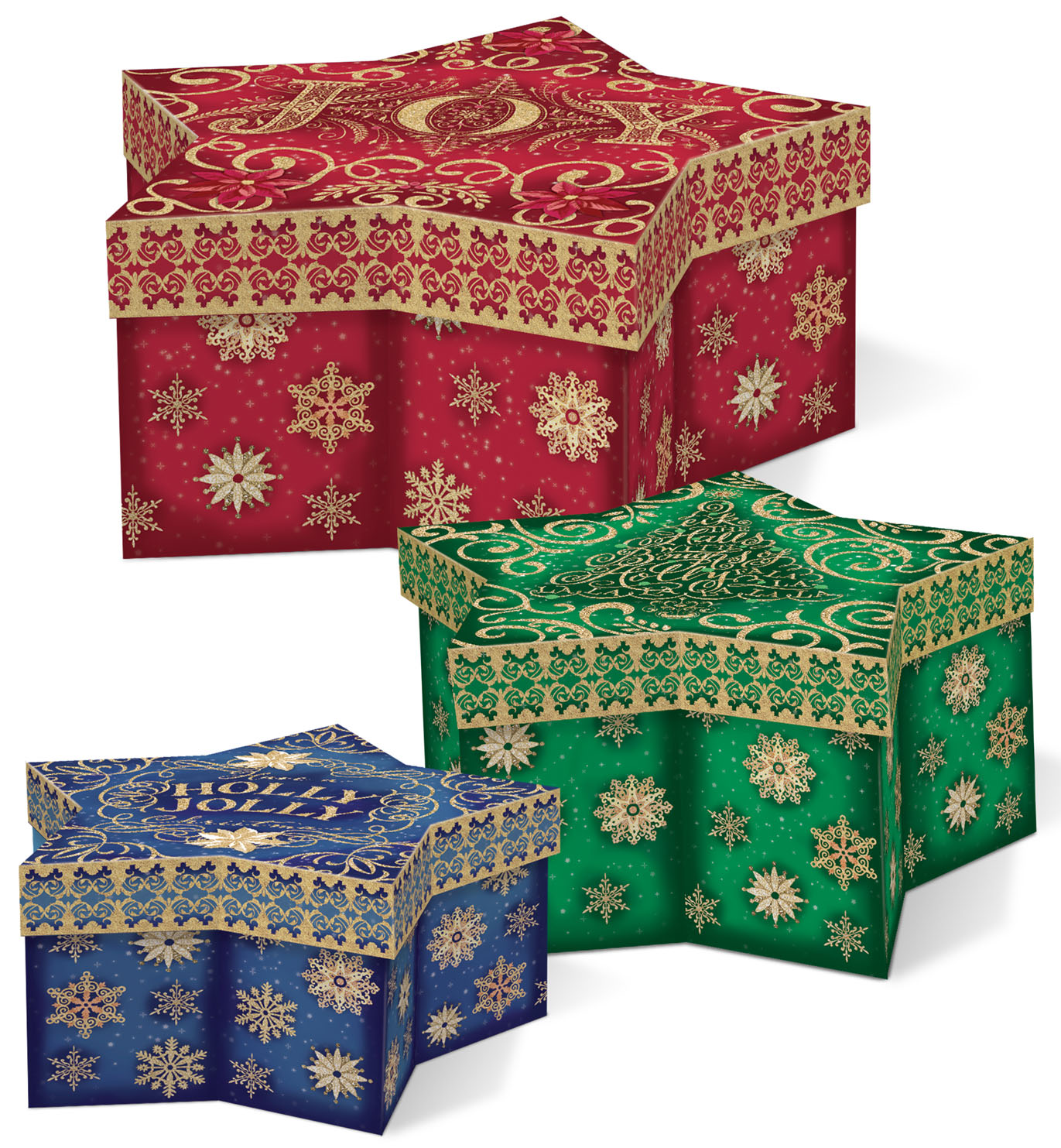 paper mache boxes at michaels punch studio nesting boxes sparkle shine star set of