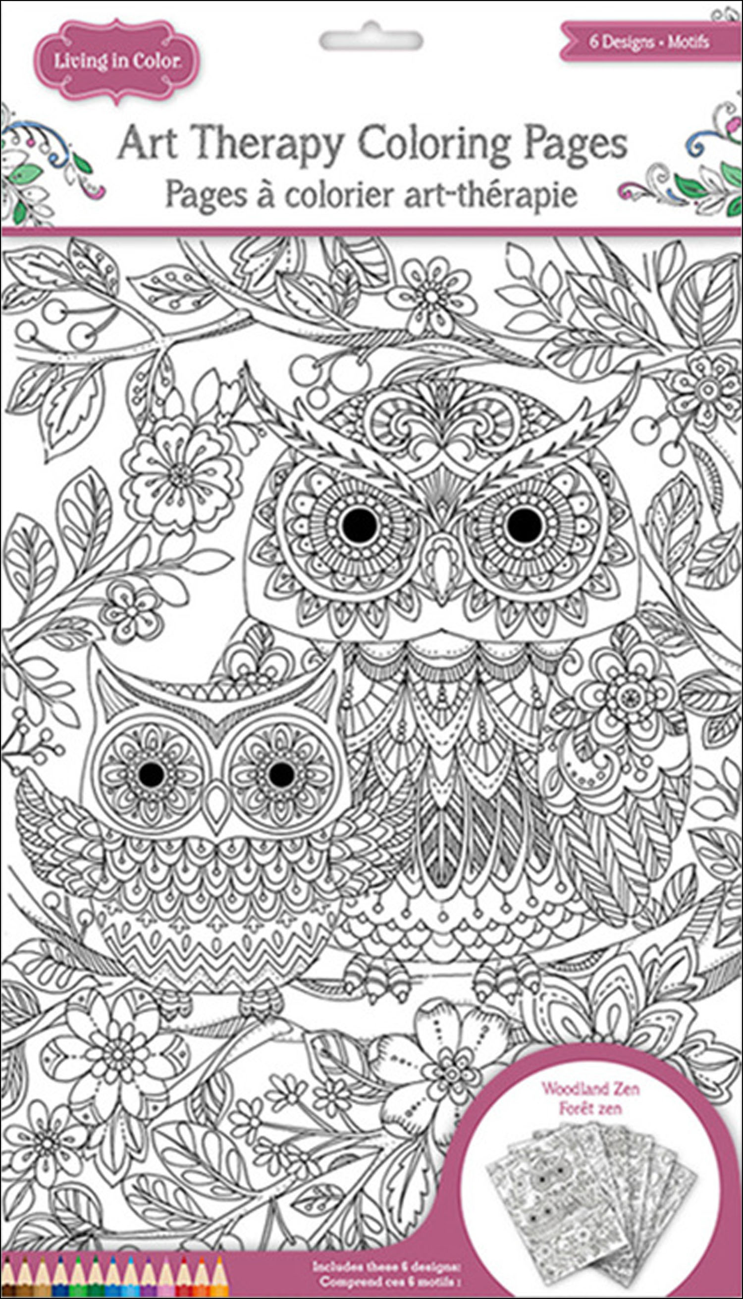 multicraft lic art therapy color pages woodlandzen createforless