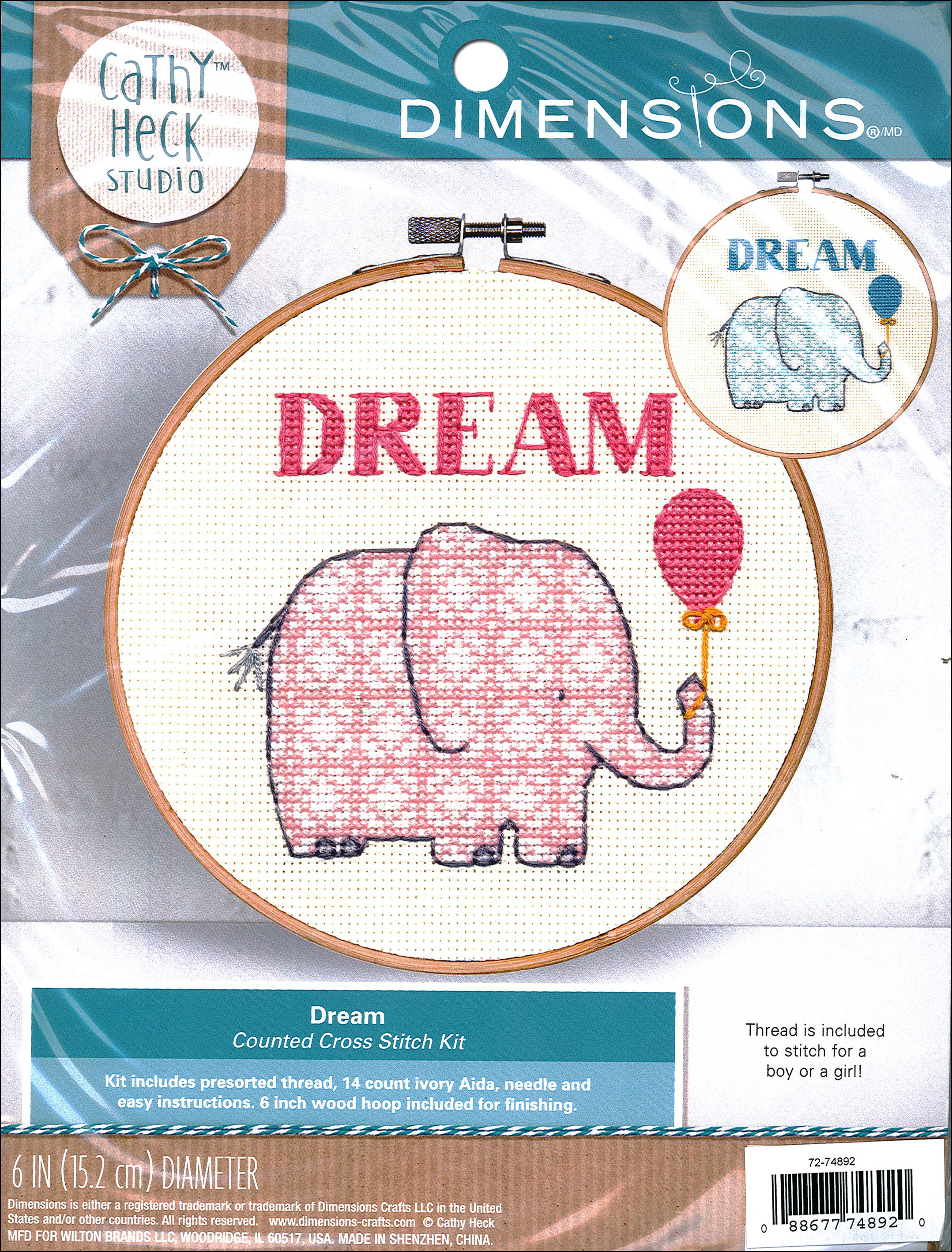 Dimensions Cross Stitch Kit 6 in  Cathy Heck Dream 1