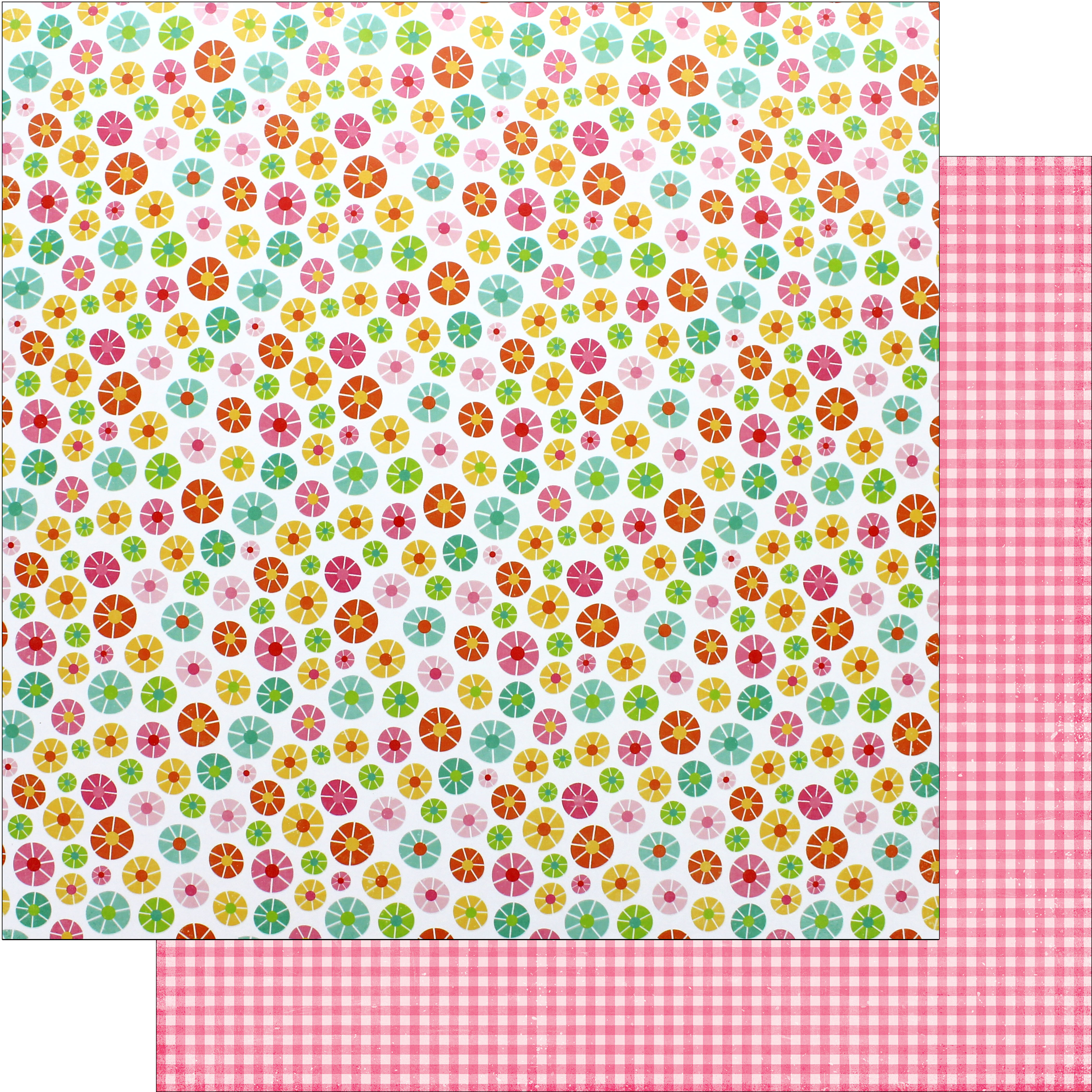Scrapbook paper cart - Scrapbook Paper Echo Park Collection Celebrate Spring Paper 12 X 12 Blooming Flowers