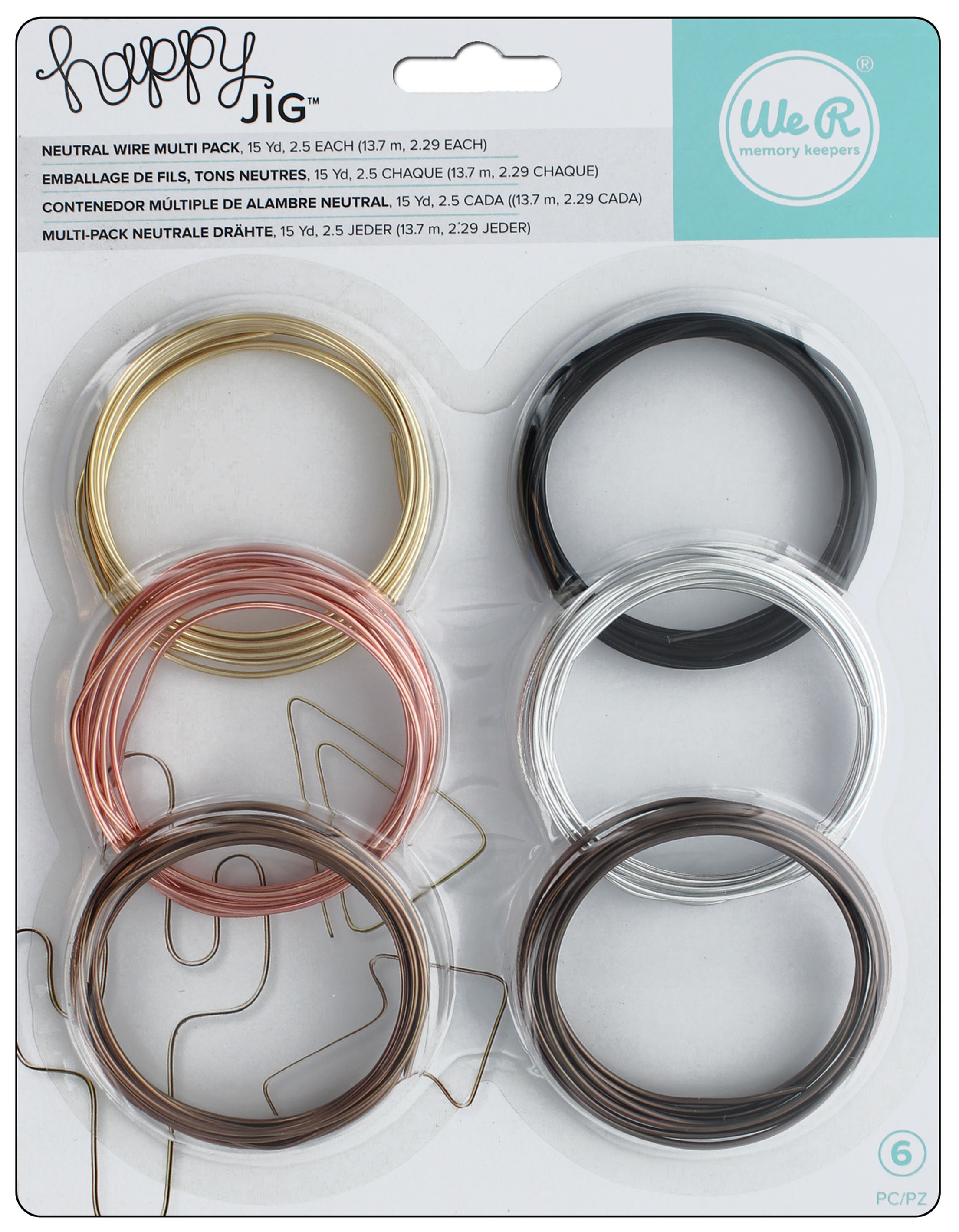 We R Memory Keepers Happy Jig Color Wire 6 pc. Neutral -- CreateForLess