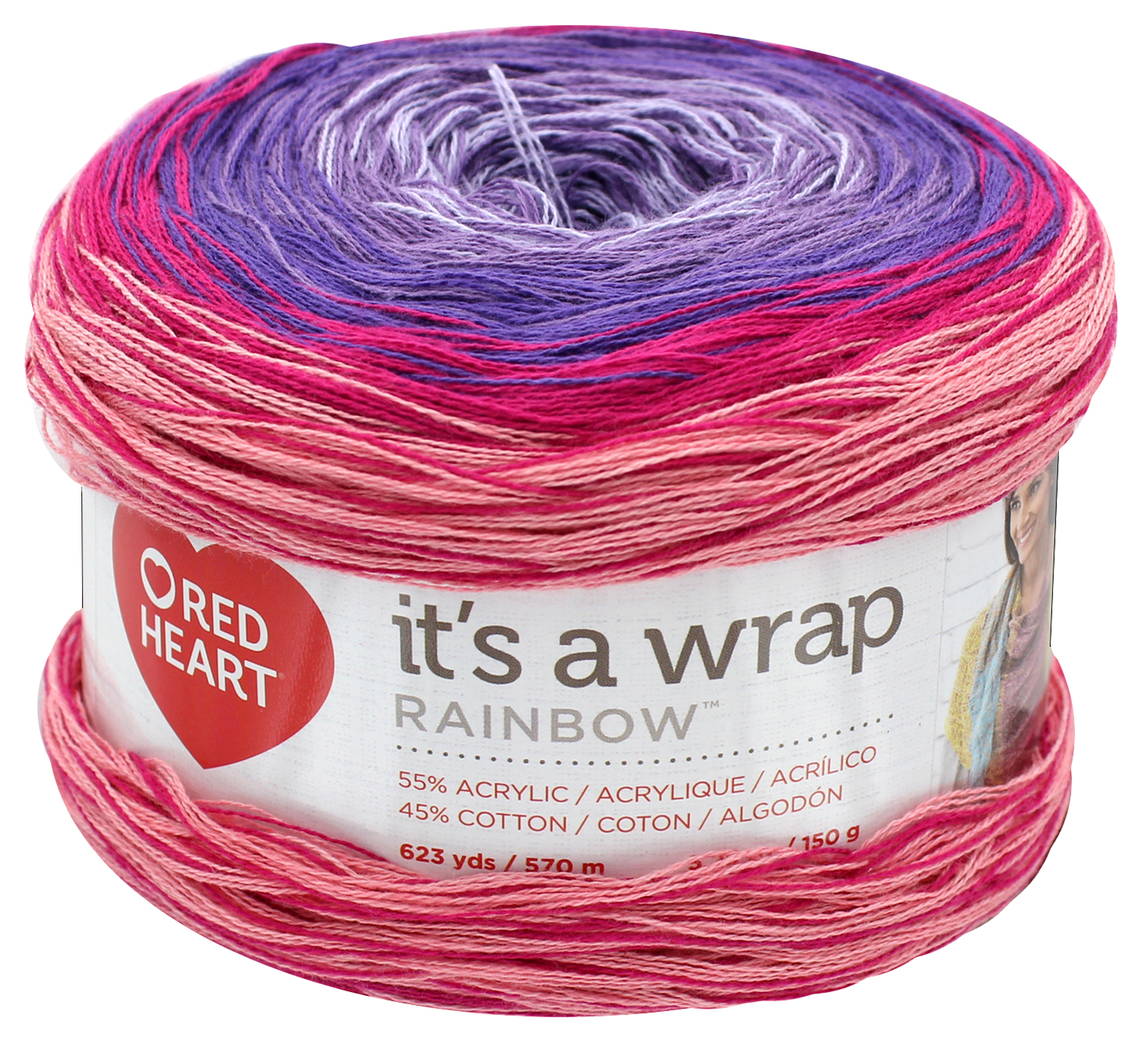 Red Heart It/'s A Wrap Rainbow Yarn-parfait