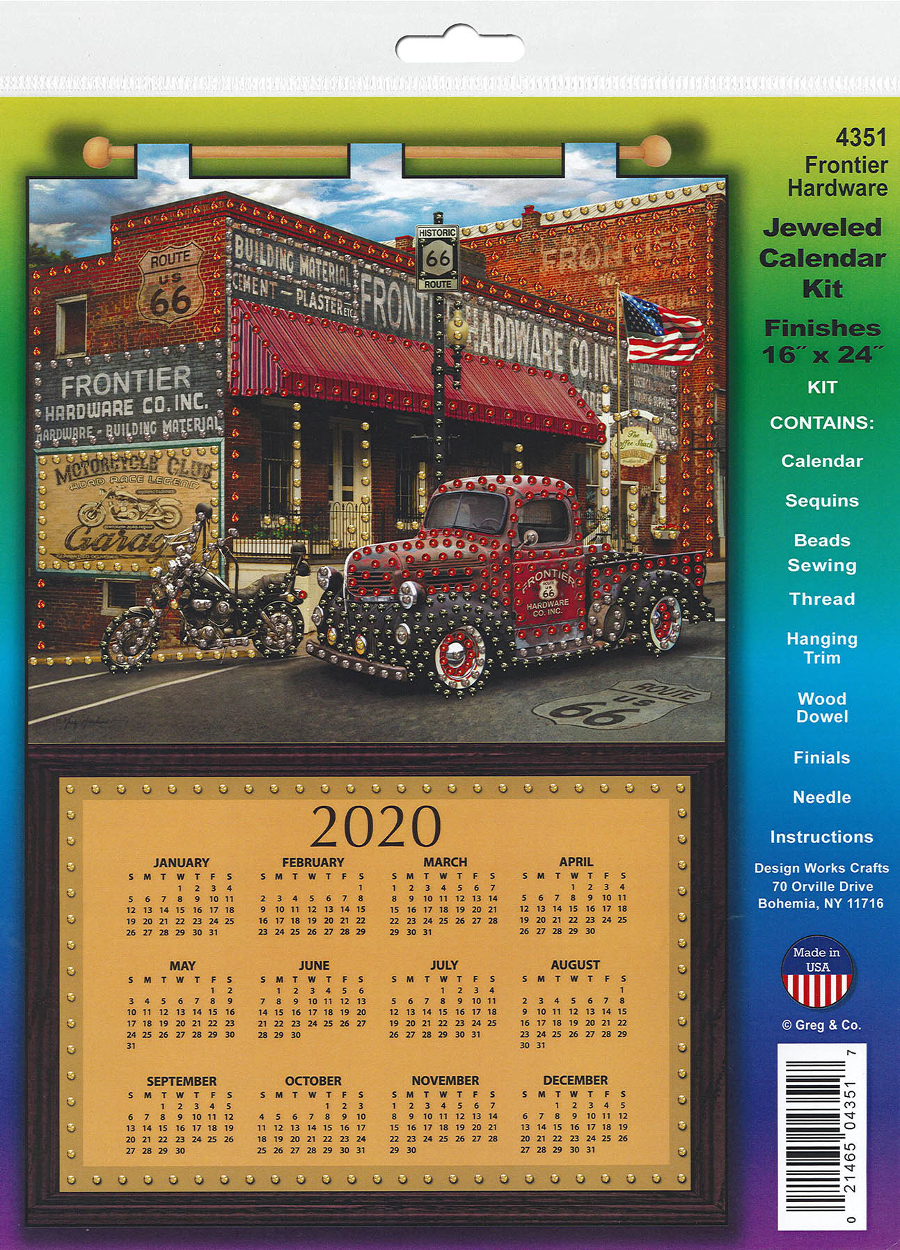 Design Works Kit Jeweled Calendar 2020 Frontier Hardware