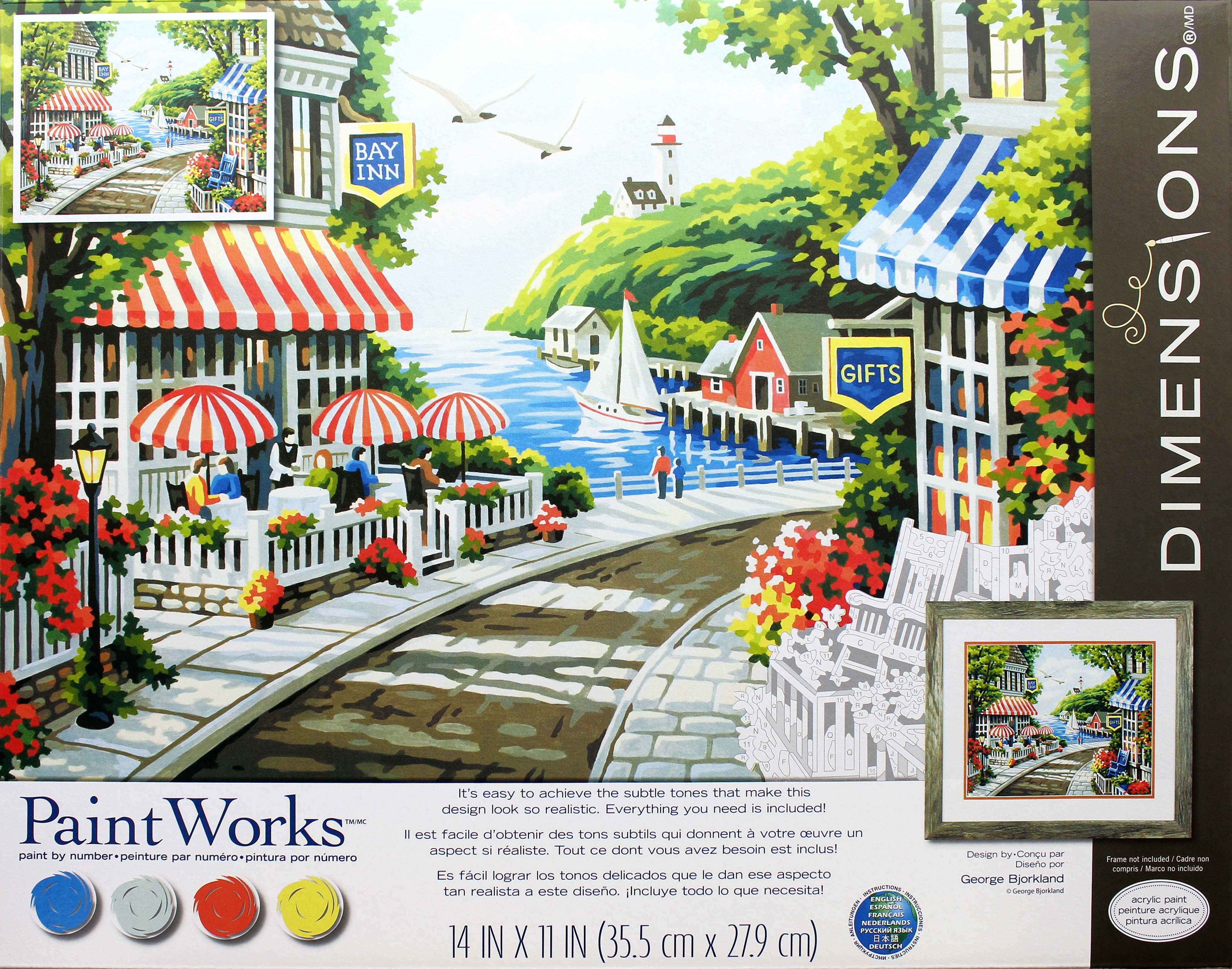 CAFE BY THE SEA Pencil  By Number Kit  ARTS /& CRAFTS Dimensions