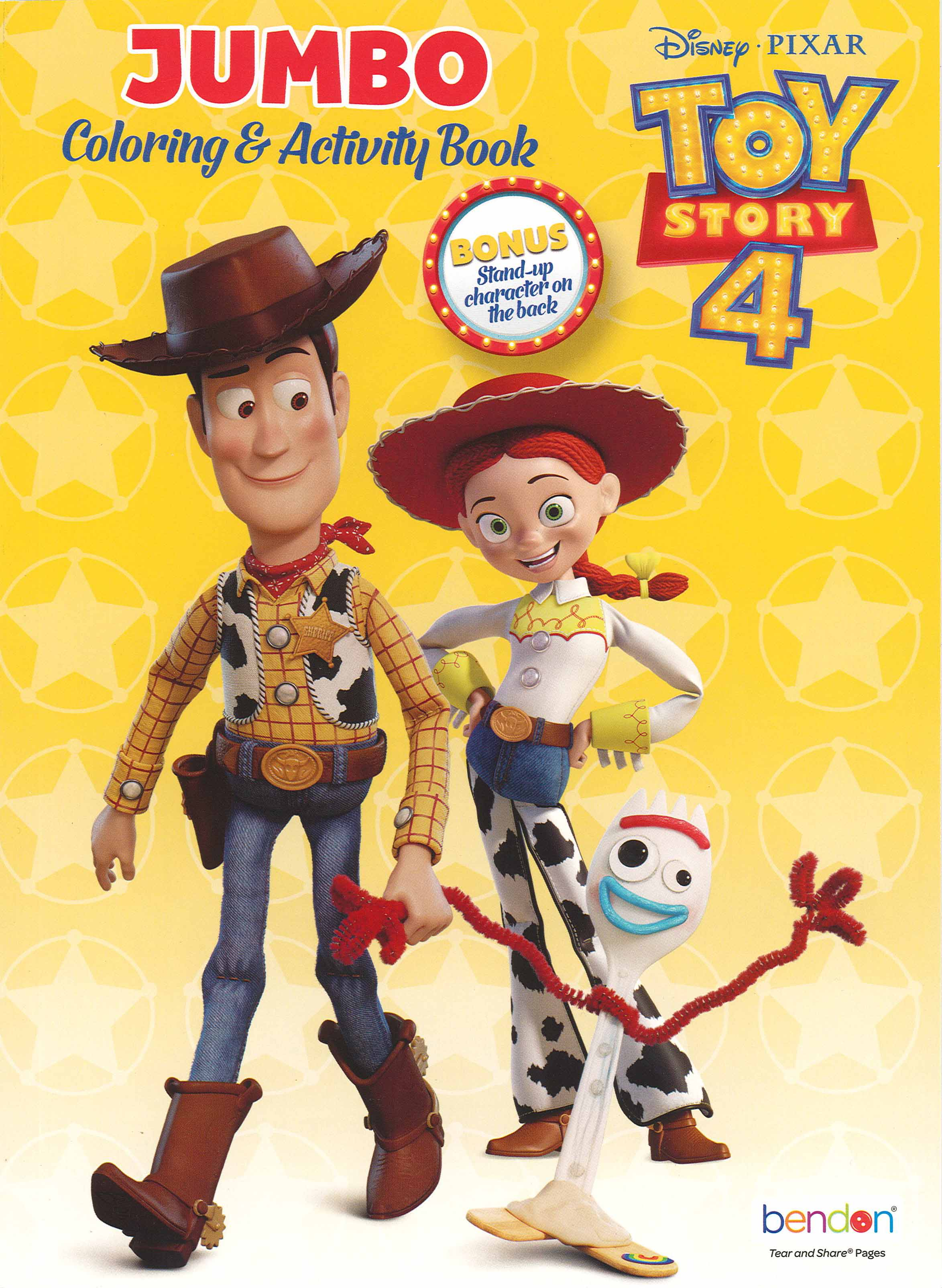 Bendon Jumbo Coloring Activity Book Toy Story 4 Createforless